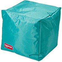 ROOMOX Cube Lounge-Sitzwürfel Stoff 40 x 40 x 40 cm, Aquagrün/Türkis