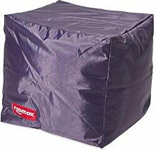 ROOMOX Cube Lounge-Sitzwürfel Stoff 40 x 40 x 40 cm, Dark Purple/Viole