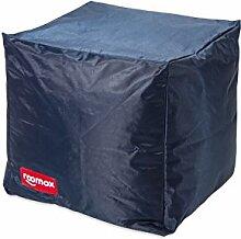 ROOMOX Cube Lounge-Sitzwürfel Stoff 40 x 40 x 40 cm, Dunkelblau