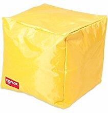 ROOMOX Cube Lounge-Sitzwürfel Stoff 40 x 40 x 40 cm, gelb