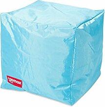 ROOMOX Cube Lounge-Sitzwürfel Stoff 40 x 40 x 40 cm, Hellblau