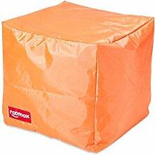 ROOMOX Cube Lounge-Sitzwürfel Stoff 40 x 40 x 40 cm, Orange