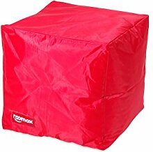 ROOMOX Cube Lounge-Sitzwürfel Stoff 40 x 40 x 40 cm, ro