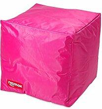 ROOMOX Cube Lounge-Sitzwürfel Stoff 40 x 40 x 40 cm, Rosa