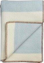 Roros Tweed: Creme-beige-Blaue Wolldecke