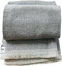 Roros Tweed: Creme hellgrau-graue Wolldecke