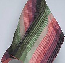 Roros Tweed Dicke rosa-grüne Streifen Wolldecke Asmund 'Gradiet', 100% norwegische Lambswool, ca 135 cm x 200 cm