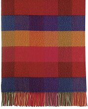 Roros Tweed, große rost-rot-pink-blau-grüne Karo