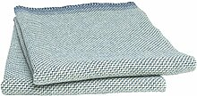 Roros Tweed: Leichte petrolblau-minttürkis-hellgrau-graue Wolldecke 'Una' 100% norwegische Lambswool, ca 150 cm x 200 cm, ca 850g