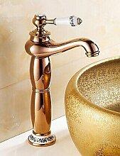 Ros¡§|gold ein Loch einzigen Handgriff Waschbecken Wasserhahn