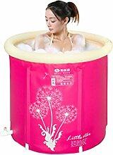 Rosa aufblasbare Badewanne Portable Folding Thicken Bequeme Soaking Tub, Kinder Aufblasbare Pool Badezimmer Home SPA (größe : L)