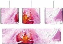 Rosa Blütenblätter inkl. Lampenfassung E27, Lampe mit Motivdruck, tolle Deckenlampe, Hängelampe, Pendelleuchte - Durchmesser 30cm - Dekoration mit Licht ideal für Wohnzimmer, Kinderzimmer, Schlafzimmer