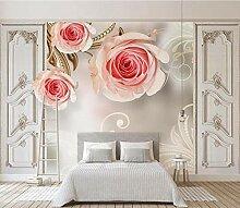 Rosa Blume 3D Tapeten -200Cmx140Cm Einfach Und