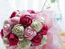 Rosa einfache große Brautstrauß Hochzeit Zubehör