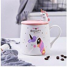 Rosa Einhorn Becher Keramik Kaffeebecher mit Süß