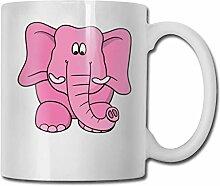Rosa Elefant-Mode-Kaffeetasse-Porzellan-Becher