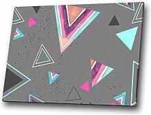 Rosa-Grau Teal modernes abstraktes geometrisches