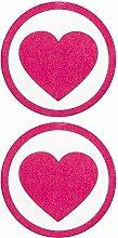 Rosa Herz-Aufkleber Nippel
