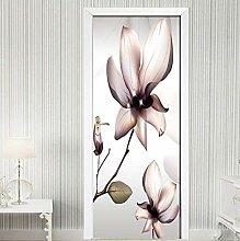 Rosa kleiner Lotus Tür Tapete selbstklebend