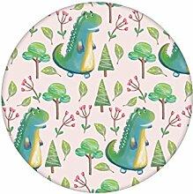 rosa lustige Kinder Tapete mit kleinen Drachen