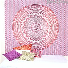 Rosa Ombre Mandala Tapisserie Wand Kunst Hangings Hippie Wandteppiche Dorm Decor