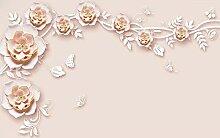 Rosa Rose 3D Tapeten -200Cmx140Cm Blume