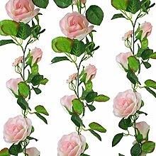 Rosa Seide Rose Garland–Hochzeit Dekoration