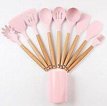 Rosa Silikon Küchenutensilien Set