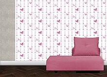rosa, Streifentapete mit chinesischen