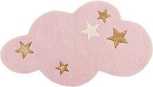 Rosa Wollteppich Wolke 130x75