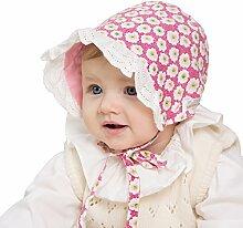 Rosafarbener Baumwollpalast Blumender koreanischer Prinzessinnendruck-Sonnenschutz mit Kappe Prinzessin Temperamentkappe ( Size : S )