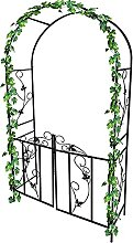 Rose Arch, Iron Garden Arch, mit Metalltor, Heavy