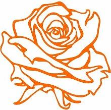 Rose Aufkleber 001, 40 cm, orange