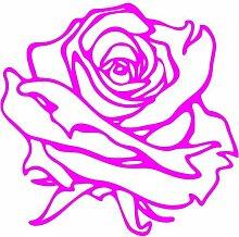 Rose Aufkleber 001, 50 cm, pink