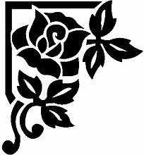 Rose Aufkleber 002, 50 cm, schwarz