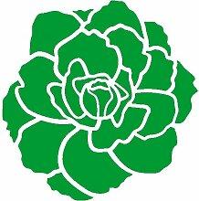 Rose Aufkleber 005, 50 cm, gruen