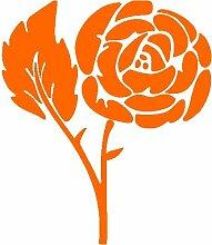 Rose Aufkleber 006, 50 cm, orange