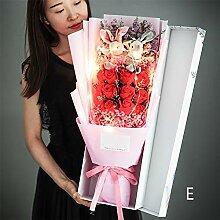 Rose Bouquet Geschenkbox, Gypsophila Ewigen