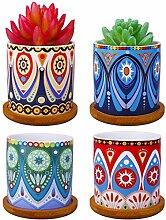 ROSE CREATE Mini-Keramik-Blumentöpfe für