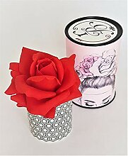 Rose de Boheme 801288 Künstliche Duftrose, Natur,