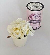 Rose de Boheme 801295 Künstliche Duftrose, Natur,