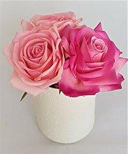 Rose de Boheme 801312 Künstliche Duftrose Natur,
