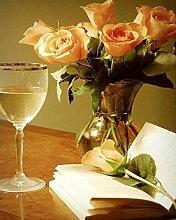 Rose Diamant Malerei DIY Voll Bohren Harz Blume