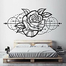 Rose Flower Wandkunst Aufkleber Modern Geometric