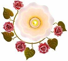 Rose Flowers Deckenleuchte, Retro Schlafzimmer