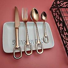 Rose Gold 304 Edelstahl Tisch Messer Gabelspoon