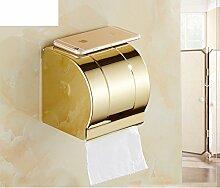 rose gold Bad-Accessoires/Kasten/Vergoldete europäischen Tissue Box/Kupfer-Metall Anhänger-Kit-W