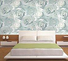 Rose High-End-3D-Vliestapete Wohnzimmer Schlafzimmer Tapete Hintergrund,Blue