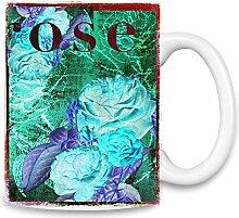 Rose Kaffee Becher
