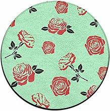 Rose Kreis Shaggy Teppich Runde Form für Schlafzimmer Wohnzimmer Teppich/Fußmatte/Anti-Rutsch